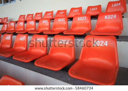 Seat for watch  some sport or football - stock photo