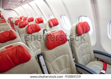 seat in airplane - stock photo
