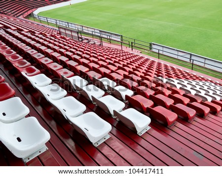 seat in football field - stock photo