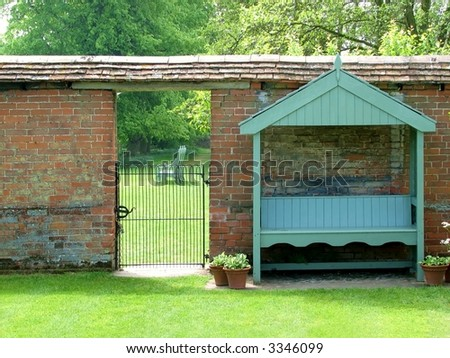 Seat in the Shade - stock photo