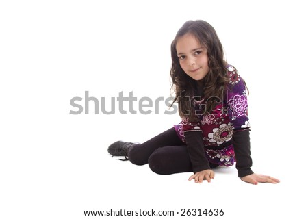 seat kid isolated on a white background - stock photo