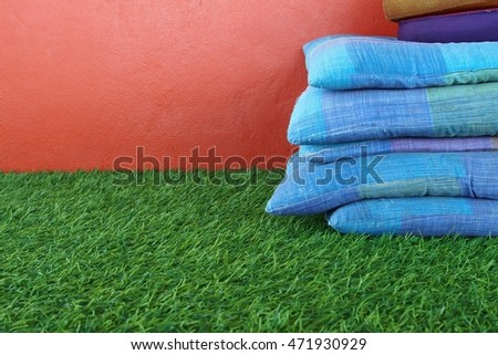 Seat Pad on green grass