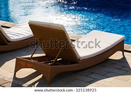 seat side by pool