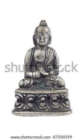 Seated Buddha Icon Cutout - stock photo