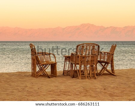 Seating by the Red Sea