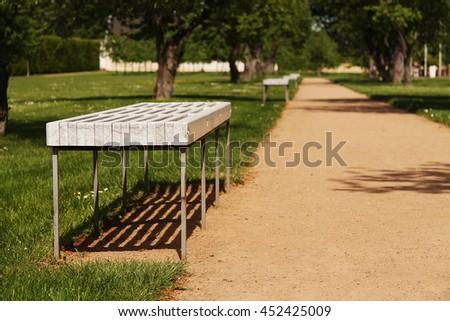 Seats at park - stock photo