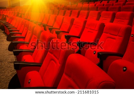 Seats in a theatre - stock photo