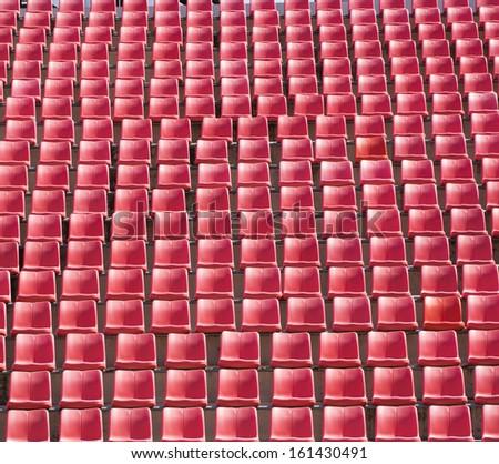 Seats in stadium.  - stock photo
