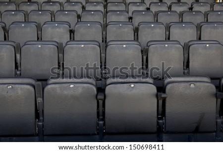 seats in the cinema - stock photo