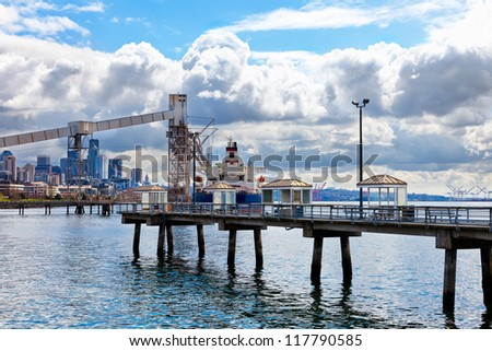 Port of seattle stock images royalty free images for Seattle fishing pier
