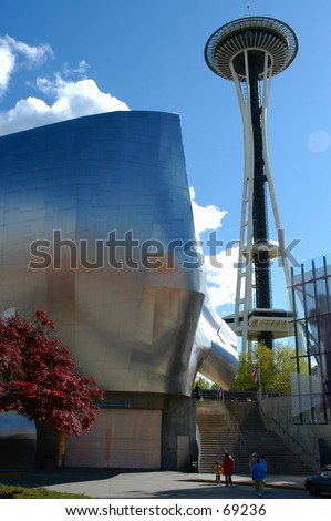 Seattle Center's Spaceneedle - stock photo