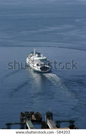 seattle ferry leaving dock