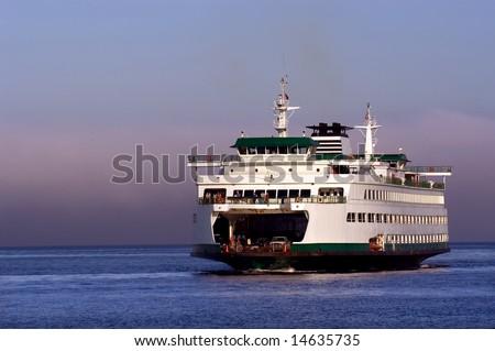 Seattle ferryboat to Bainbridge island in Washington state - stock photo