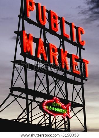 Seattle Fish Market - stock photo