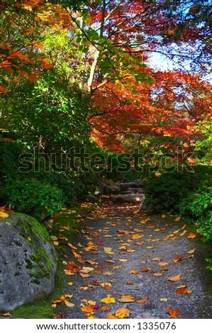 Seattle Japanese Gardens - stock photo
