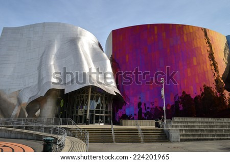 SEATTLE  OCTOBER 03: The Experience Music Project building on October 03, 2014 in Seattle.