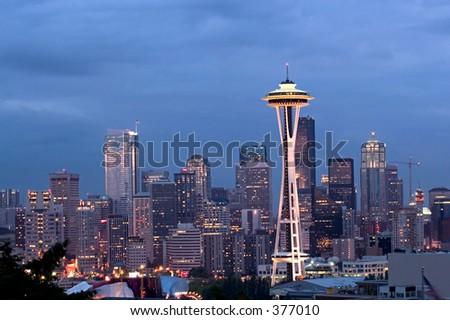 Seattle panorama - stock photo