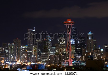 Seattle, Pink Needle for Breast Cancer - stock photo