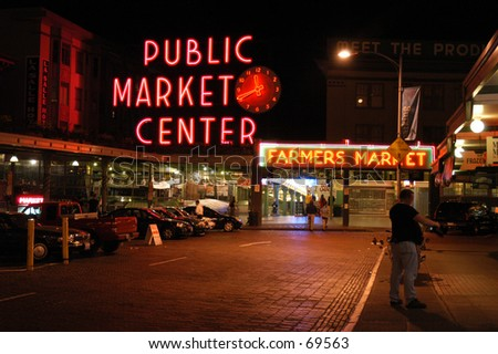 Seattle's Public Market - stock photo