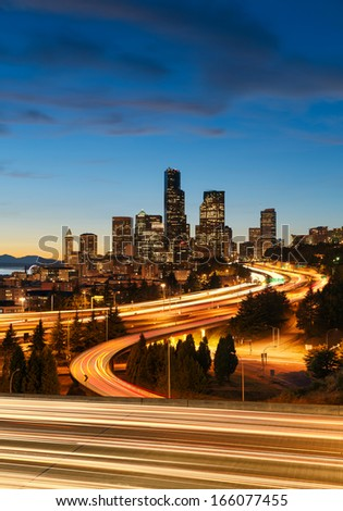 Seattle skyline - stock photo