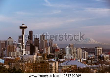 Seattle Skyline - stock photo