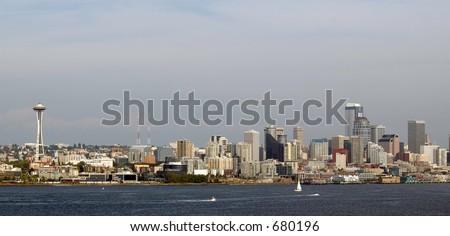Seattle Skyline 2005 - stock photo
