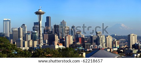 Seattle skyline panorama. - stock photo