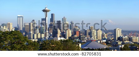 Seattle skyline panorama, WA.state. - stock photo