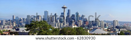 Seattle skyline panorama, Washington state. - stock photo