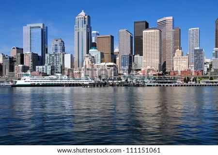 Seattle Skyline, Wa, USA - stock photo
