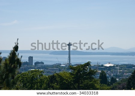 Seattle Space Needle - stock photo