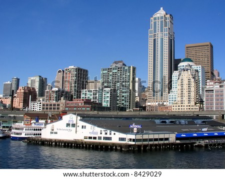 Seattle waterfront - stock photo