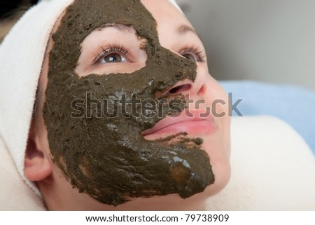 seaweed beauty mask - stock photo