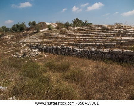 Sebastian, ancient Israel, ruins and excavations in the Palestinian territories. Smaria - stock photo