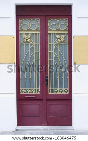 Secession style doors in an old bourgeois european house