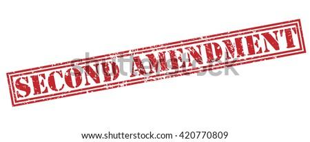 second amendment stamp - stock photo