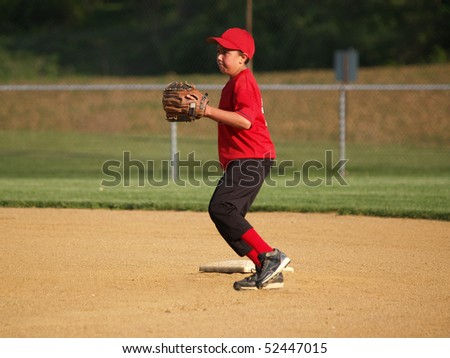Second baseman - stock photo