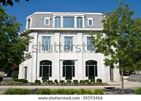 Mansard roof stock images royalty free images vectors for Modern mansard roof