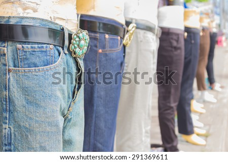 Weighs Clean Clothes On Hangers Packed Stock Photo ...