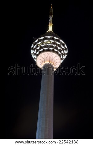 second tallest tower in a heart of kuala lumpur city - stock photo