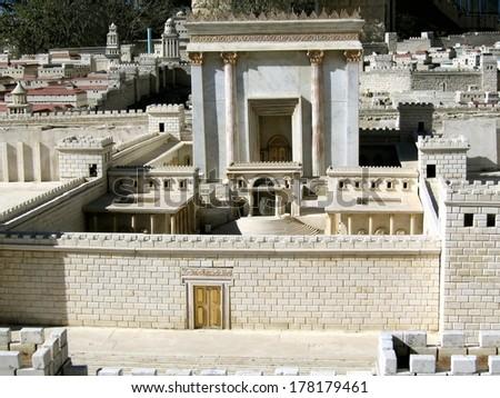 Second Temple. Ancient Jerusalem. Israel - stock photo