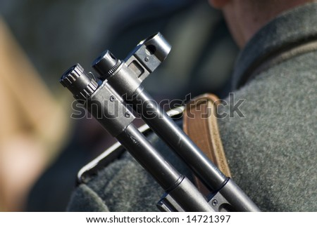 Second World War firearm abstract