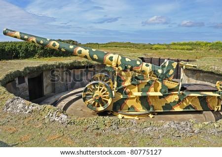 Second World War Gun - stock photo