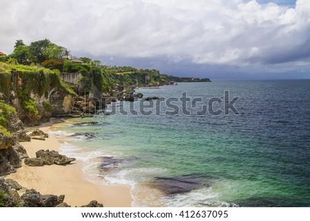 Secret Jimbaran beach, Bali, Indonesia - stock photo