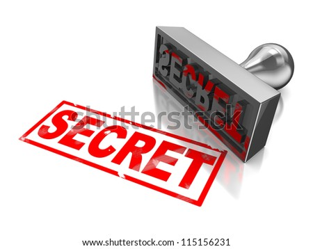 Secret stamp with text isolated on a white background - stock photo