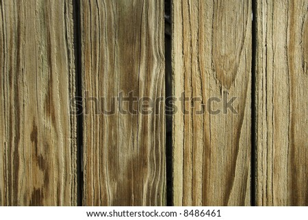 Section of a weathered wooden fence