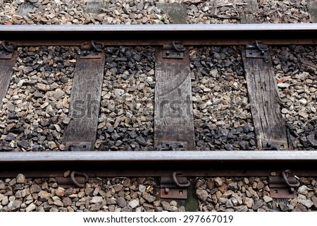 Section of An Old Rail Road - stock photo