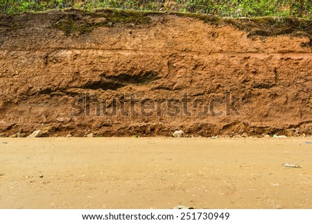 Section of  dirt road. - stock photo