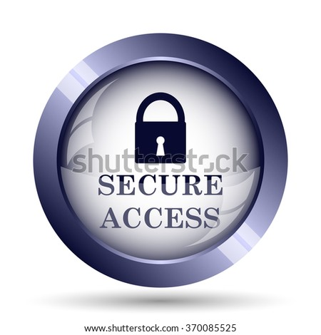 Secure access icon. Internet button on white background.