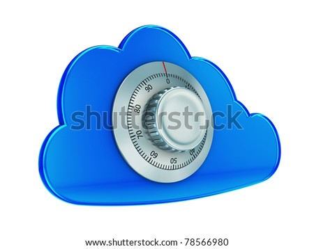 Secure cloud computing - stock photo